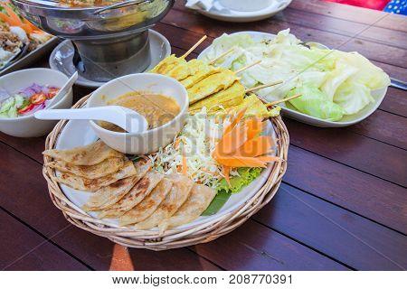 Cuisine Thai Food On Table