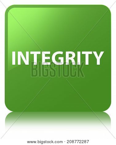 Integrity Soft Green Square Button