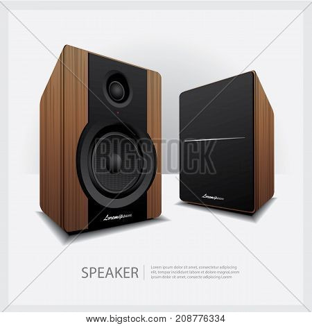 Modern Audio Speakers Realistic isolated vector illustration