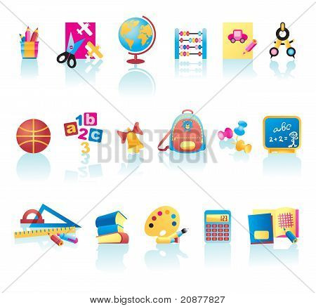 School Supplies Icon Set