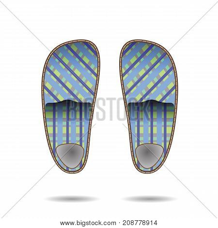 colorful illustration with room slippers for your design
