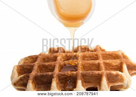 delicious dessert waffles isolated on white background