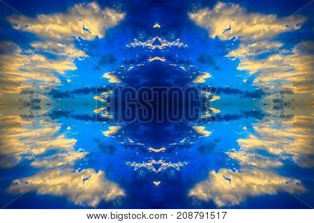 Abstract background based on clouds at sunset sky