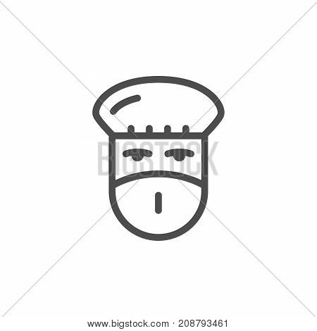 Doctor line icon isolated on white. Vector illustration