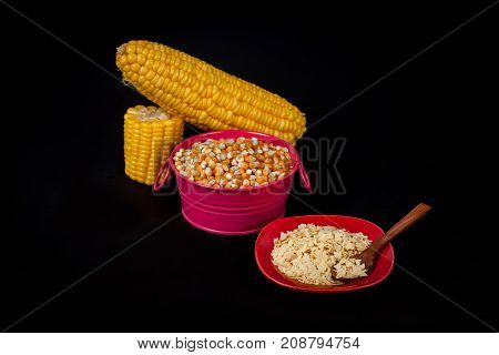 Fresh Corn ,corn Seed And Cereal From Corn ,concept Food Product