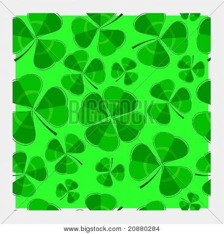 Single-layered clover repeat pattern
