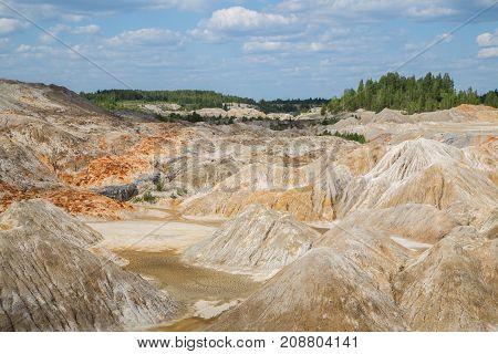 Amazing kaoline china stone abandoned quarry open pit mine