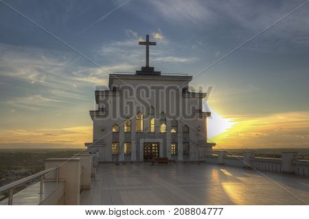 Kaunas our Lord Jesus Christ's Resurrection Basilica in Art deco style Lithuania
