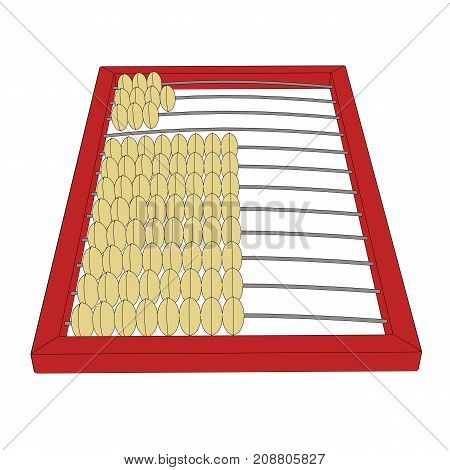 Counting Frame Or Abacus Outline