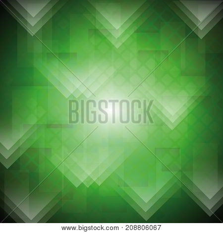 colorful illustration with green background for your design