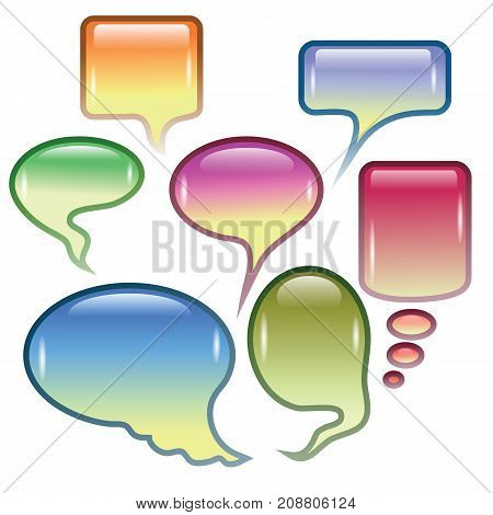 colorful background with speech bubbles for your design