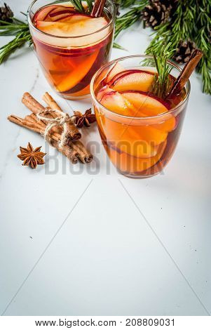 Hot Cocktail With Apple, Rosemary, Cinnamon
