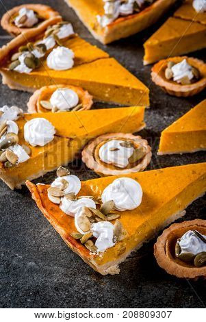 Spicy Pumpkin Pie And Tartlets