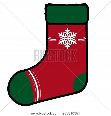 Isolated Christmas Sock
