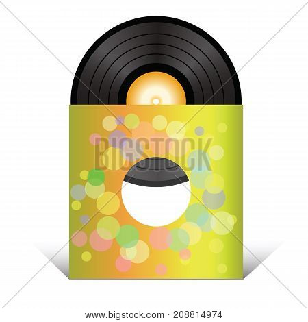 Retro vinyl record isolated on white background
