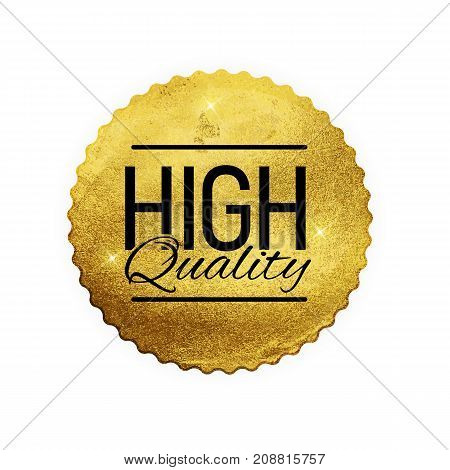 High Quality Shiny Golden Label  Luxury Badge Sign on White Background.Can be Used as  Best Choice, Price, Limited Edition, For Sale and other Business Sticker Logo. Vector Illustration EPS10