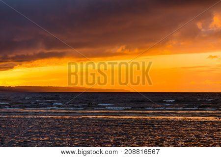 Beautiful Seascape. Composition Of Nature
