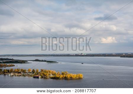 A river in Saratov under the name of Volga