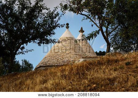 Some Trulli roofs in the country side