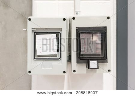 Industrail Switch Case And Metal Wire Pipes