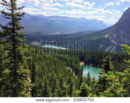 Lake Louise, Lakeview trail, Plain of six glaciers, Lake Agnes, Mirror Lake, Little and Big Beehive, Banff National Park, Canada, Alberta