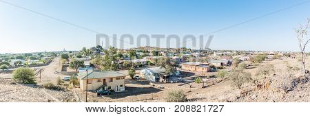 KEETMANSHOOP NAMIBIA - JUNE 13 2017: A panoramic view of part of Keetmanshoop the capital town of the Karas Region of Namibia