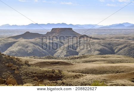 picture of a rocky scenery seen in Namibia Africa