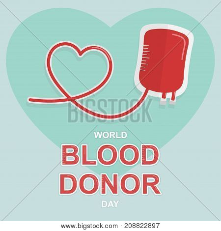 World Blood Donor Day, 14 June. Blood donation conceptual illustration vector.