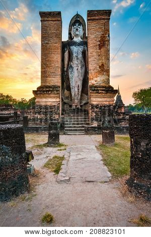 Budha In Wat Mahathat, Historical Park Which Covers The Ruins Of