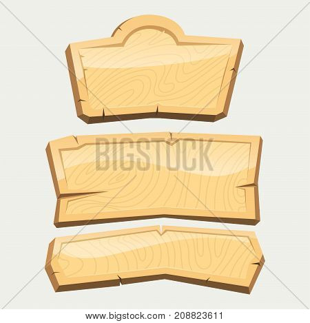 Directory wooden signboard hanging isolated road board wood vector illustration.