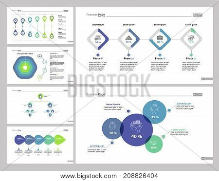 Making Money set can be used for workflow layout, management, report. Investment and economics concept with steps, percentage, process, flow and organizational charts