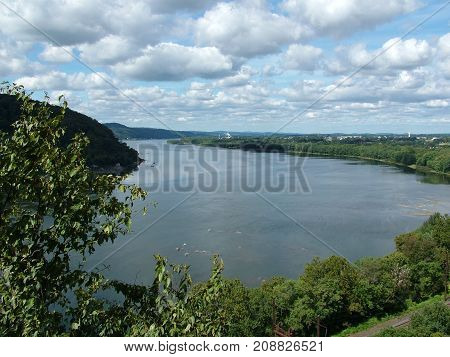View of the Susquehanna River from Chickies Rock Lancaster County