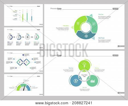 Sales set can be used for workflow layout, web design, annual report. Planning and strategy concept with comparison, doughnut chart, process and percentage diagrams