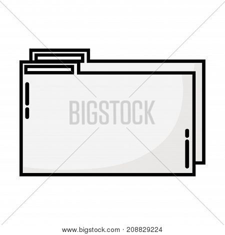 line folder file to save documents information to archive vector illustration