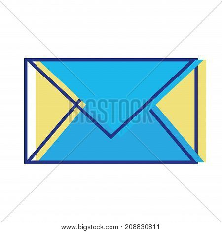 color letter card closed with message information vector illustration