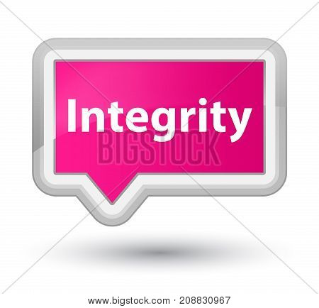 Integrity Prime Pink Banner Button