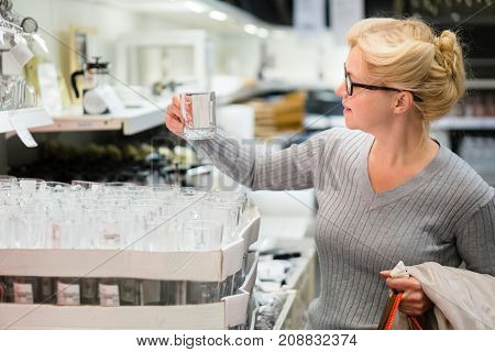 Attractive Woman Shopping At Store. Let's Go Shopping!
