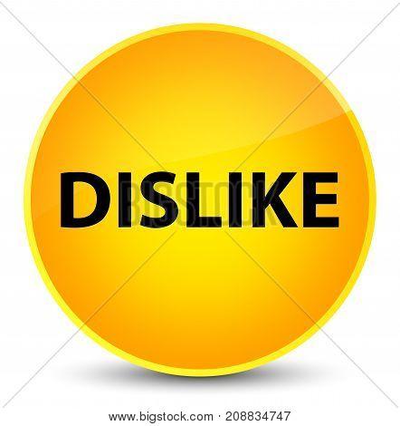 Dislike Elegant Yellow Round Button