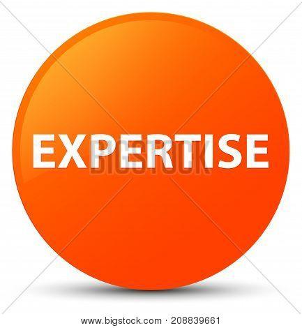 Expertise Orange Round Button