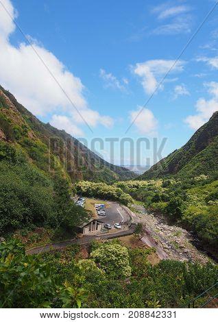 Iao Valley on the island of Maui, Hawaii.