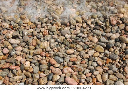 stones and wave