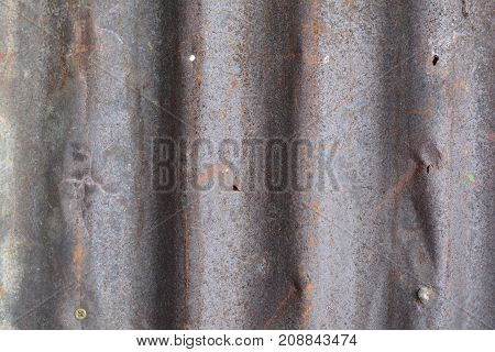 The Texture Of Old And Rusty Zinc Background