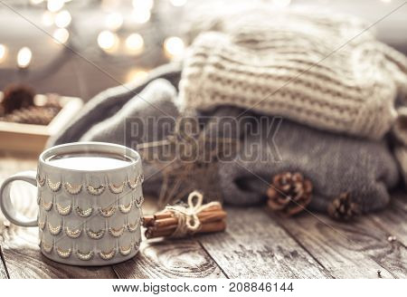 Cozy Still Life With Cup Of Tea