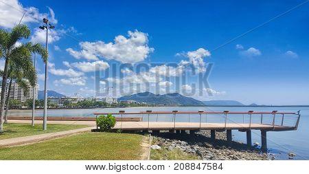 The esplanade in Cairns North Queensland Australia