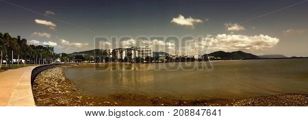 a panorama view of Cairns Queensland Australia