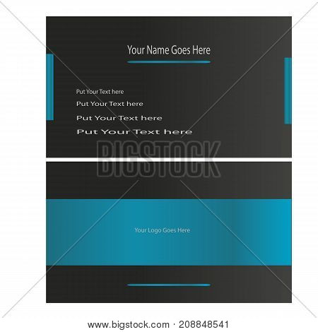 Awesome modern and stylish business card vector