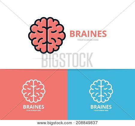 Unique brain and mind logo design template. Unique anatomy and medicine logotype design template.