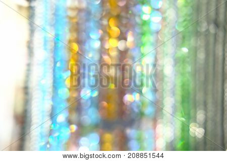 green bokeh lights defocused. abstruct background or texture