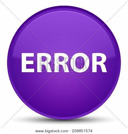 Error Special Purple Round Button