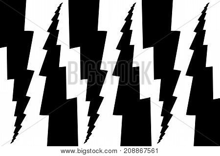 Lightning bolt - abstract geometric vector pattern - black and white , Thunder abstract background